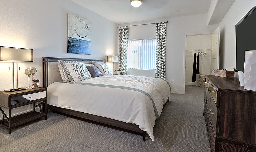 Spacious bedroom at Union Apartments in Las Vegas