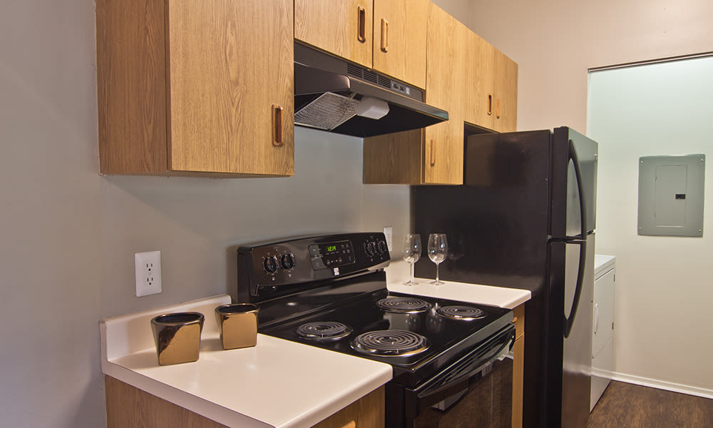 Comfortable kitchen at Perry's Crossing Apartments in Perrysburg