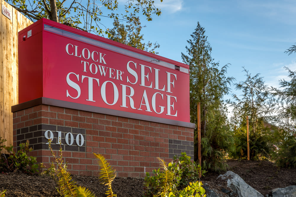 Heated Storage Sign at Clock Tower Self Storage - Lake Stevens in Lake Stevens, WA