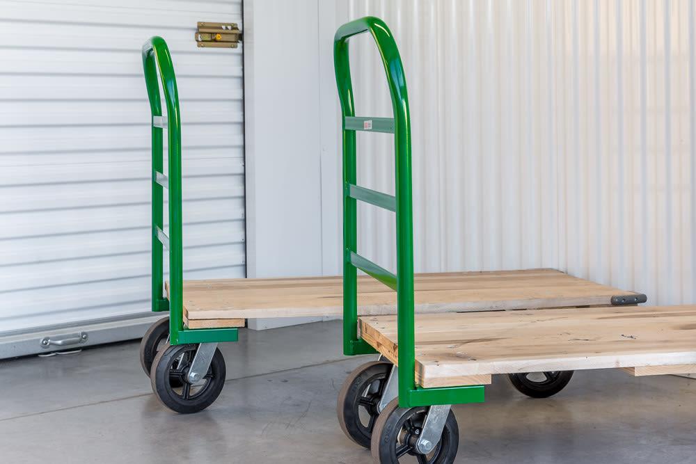 Moving Carts at Cottonwood Cool Storage in Cottonwood, AZ