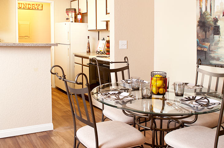 Enjoy a meal with your family at our apartments in Las Vegas