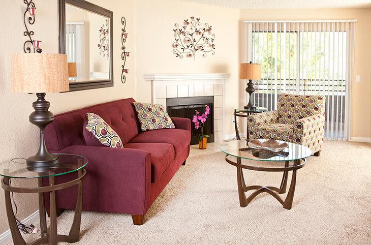 Las Vegas apartments feature modern living rooms.