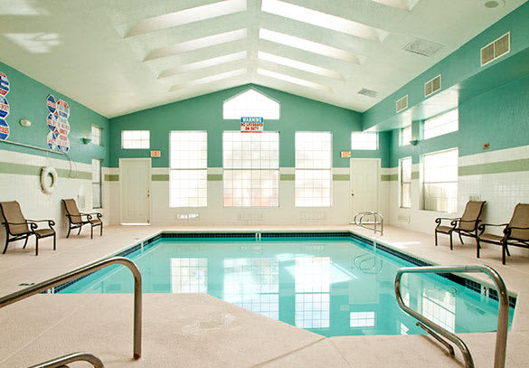 Las Vegas apartments offering an indoor swimming pool.