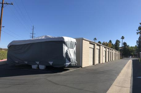 Self storage with clean rv storage areas at StorQuest Self Storage