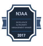 NJAA Excellence in property management award logo