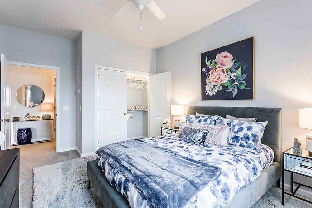 Villa Capri Senior Apartments offers a cozy bedroom in Rochester, New York