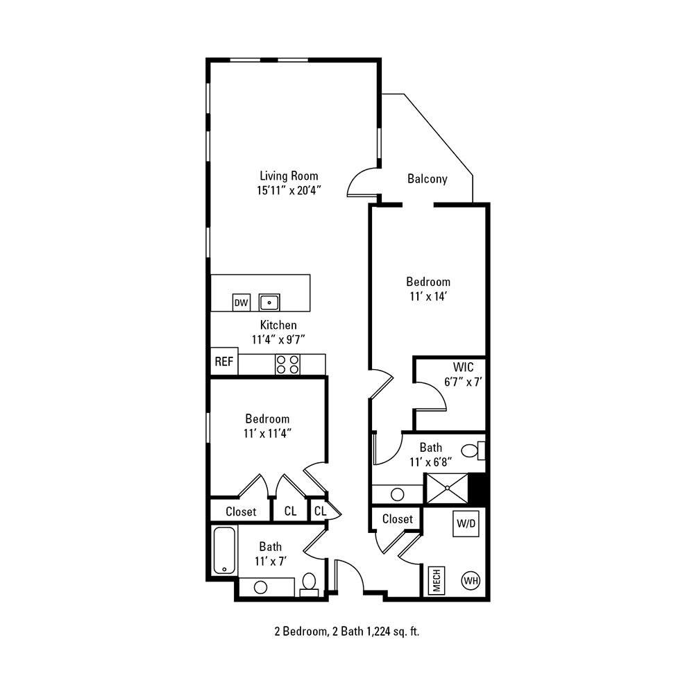 2 Bedroom, 1 Bath 1,224 sq. ft. apartment in Rochester, NY