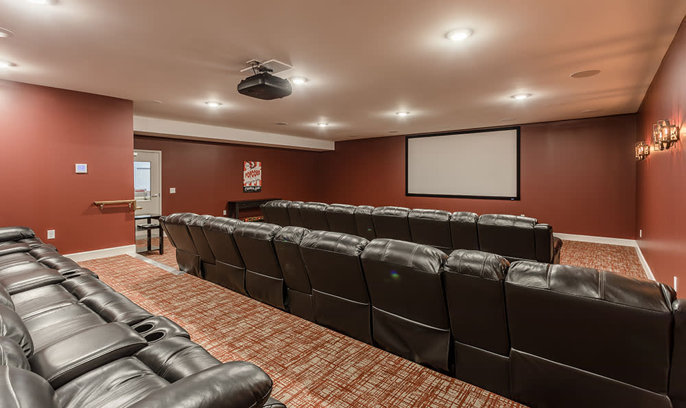 Theater seating at Village Heights Senior Apartments