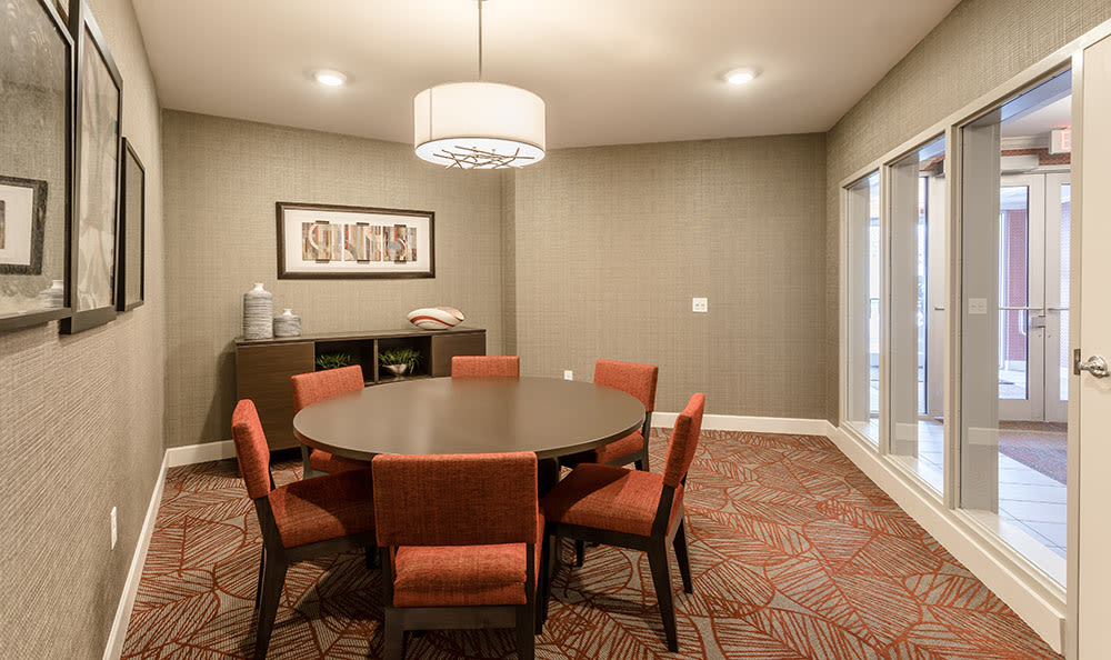 Dining table at Village Heights Senior Apartments