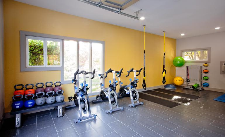 Fitness center at Seven West at The Trails