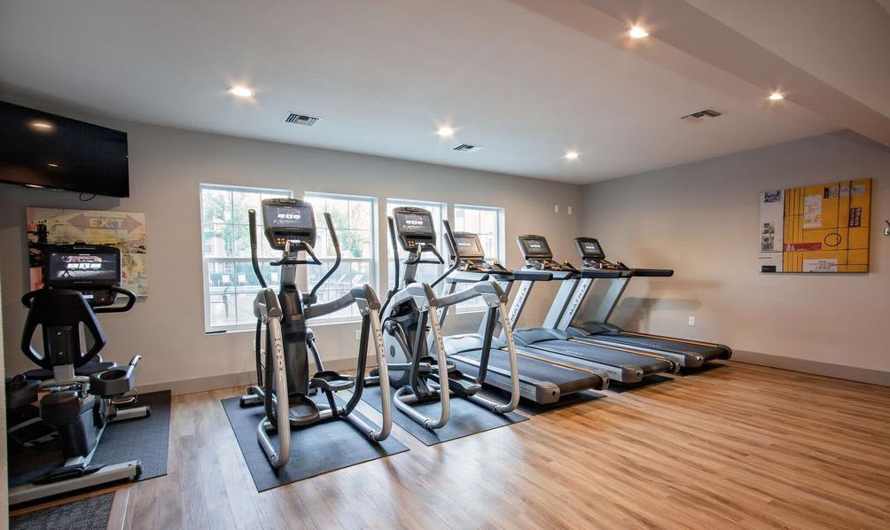Fitness Center at apartments in Beaverton, Oregon