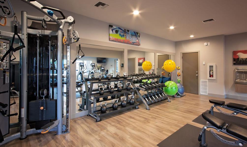 Example fitness center at Beaverton, Oregon