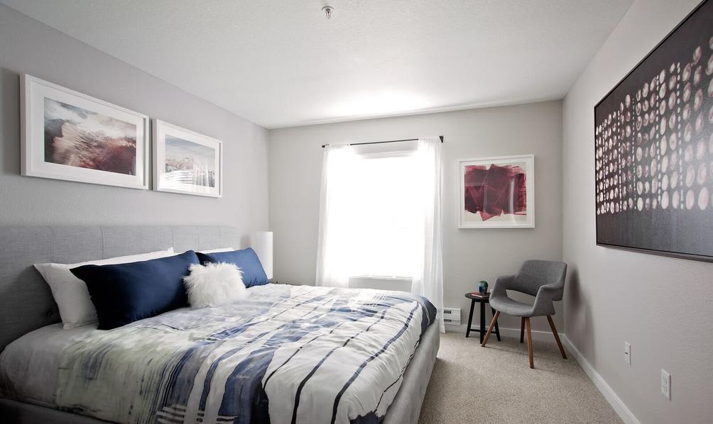 Spacious bedrooms at apartments in Beaverton, Oregon