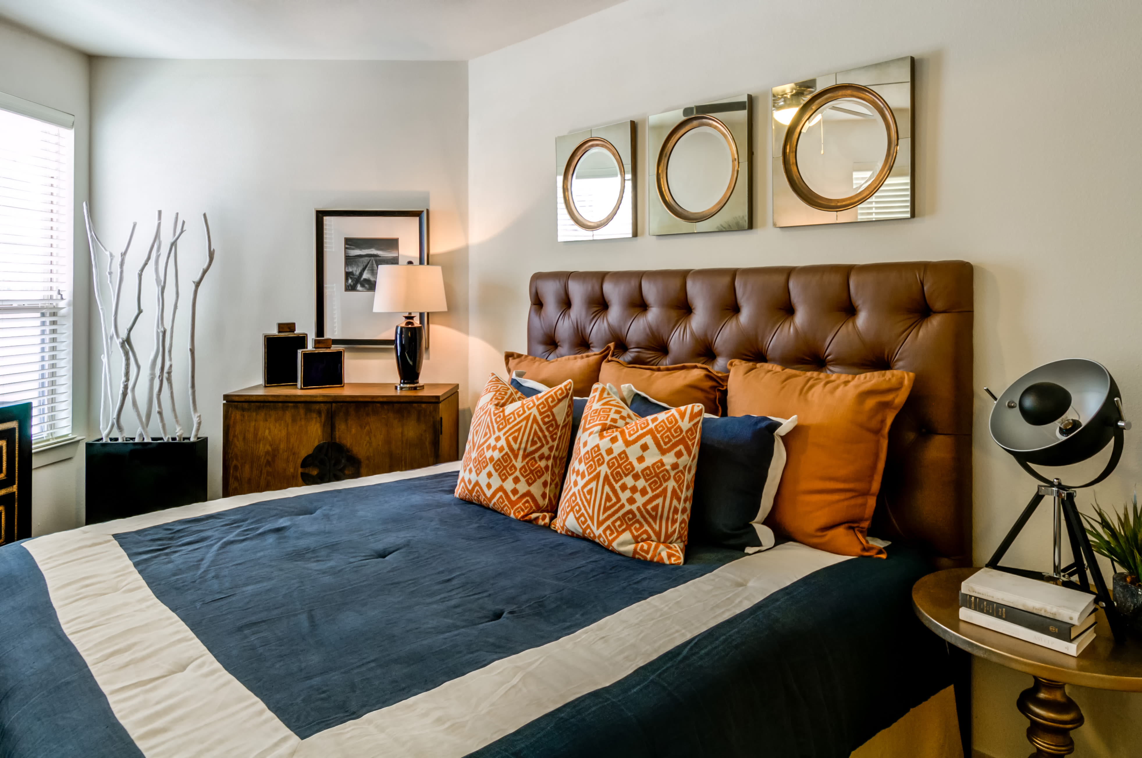 Main bedroom at Firewheel Apartments in San Antonio