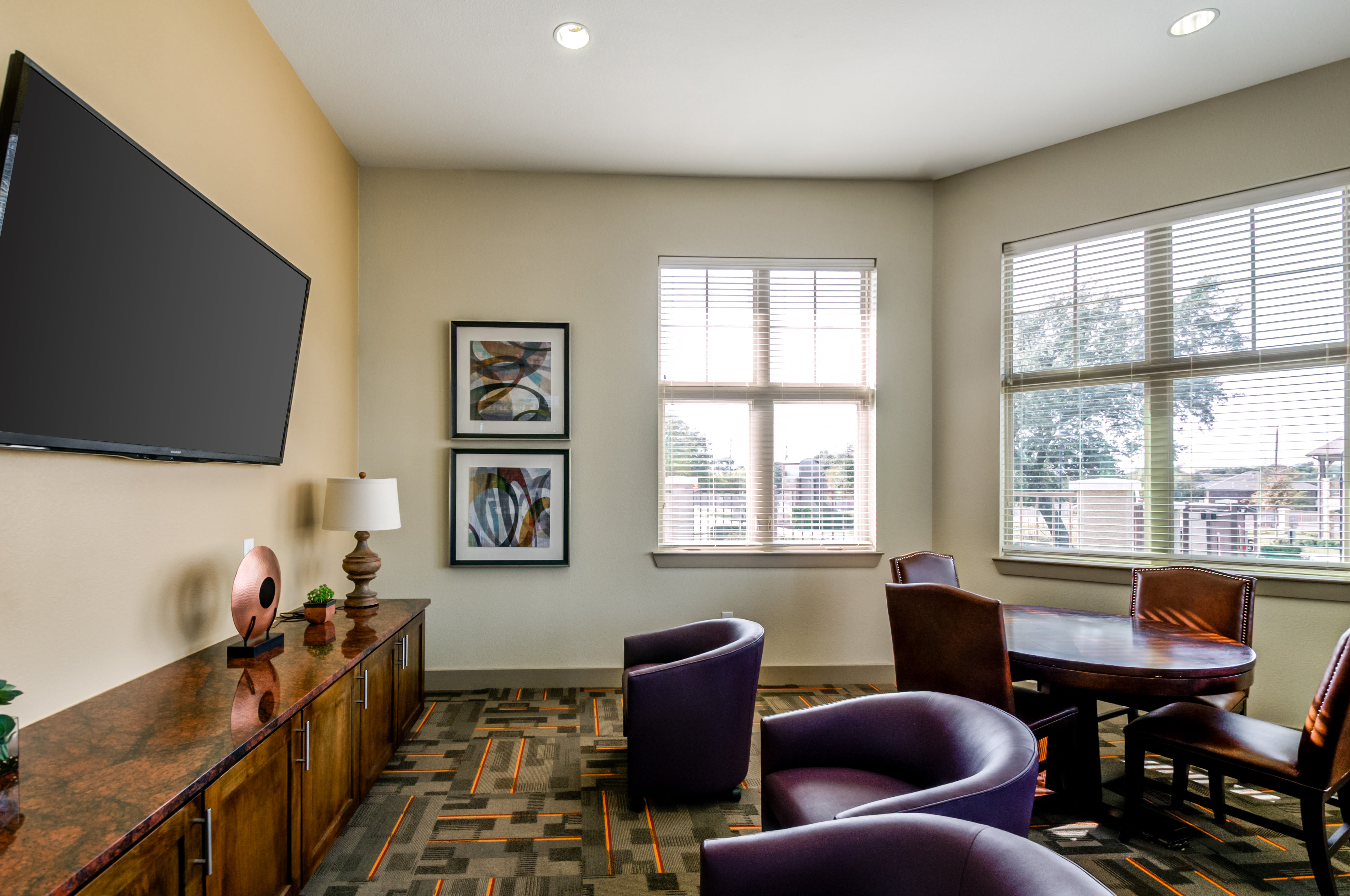 Master bedroom at Firewheel Apartments