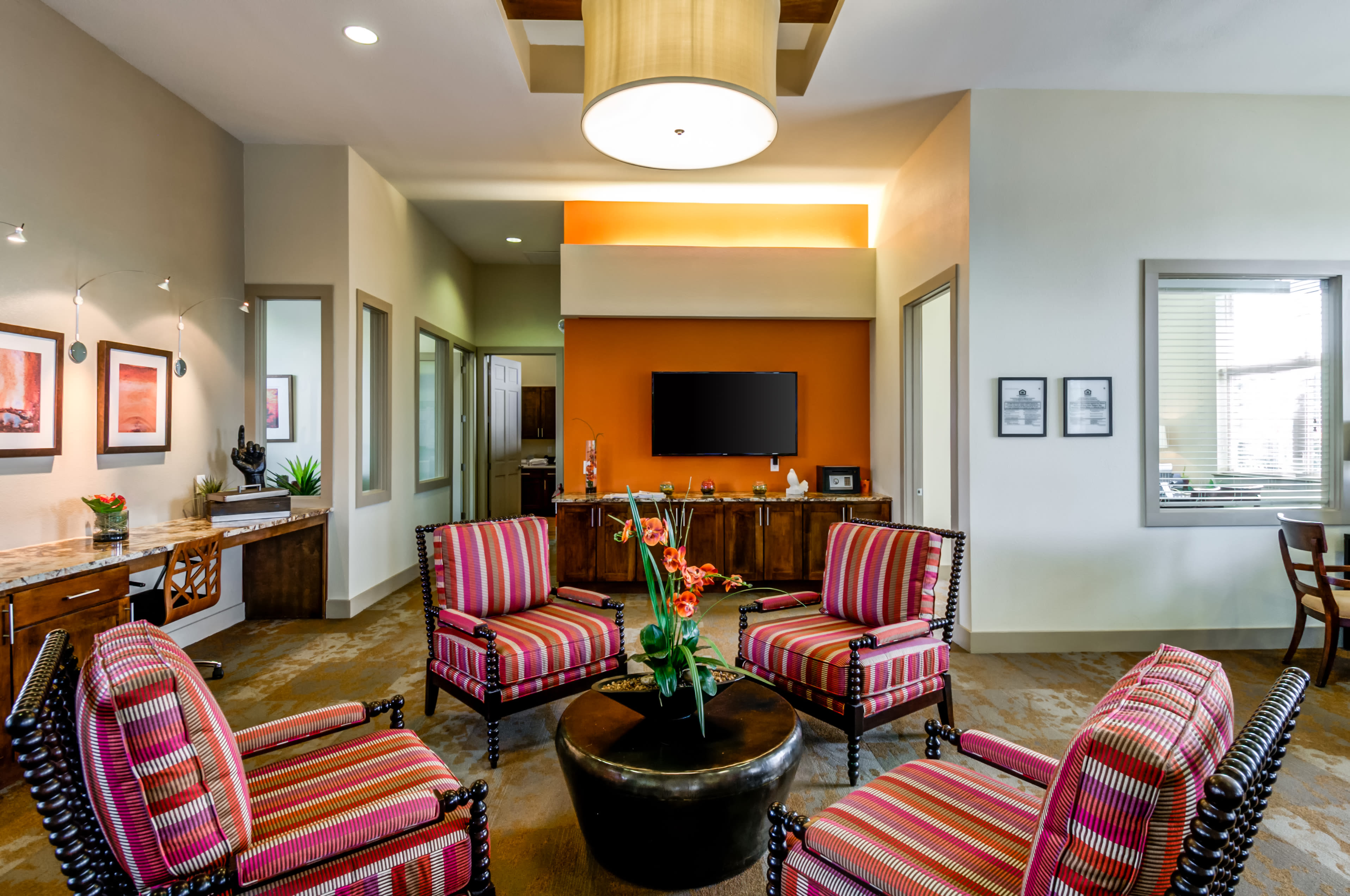 Clubhouse in San Antonio in Firewheel Apartments