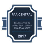 PAA Cental Award for Wedgewood Hills Apartment Homes in Harrisburg