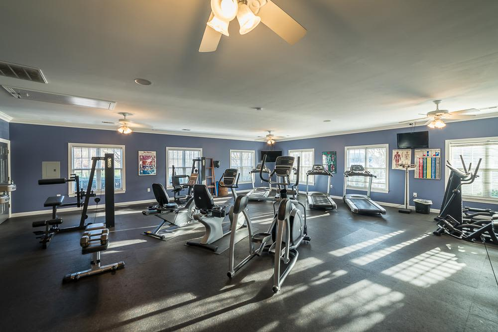 Modern fitness center at Laurel Springs in High Point, North Carolina