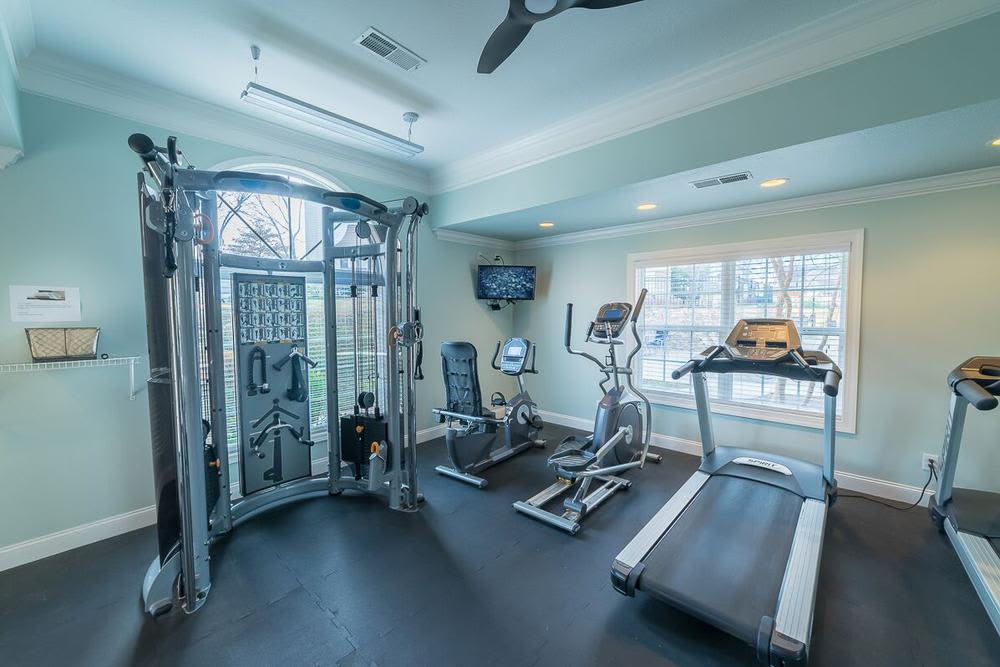 Clean fitness center at The Enclave at Deep River in Greensboro, North Carolina