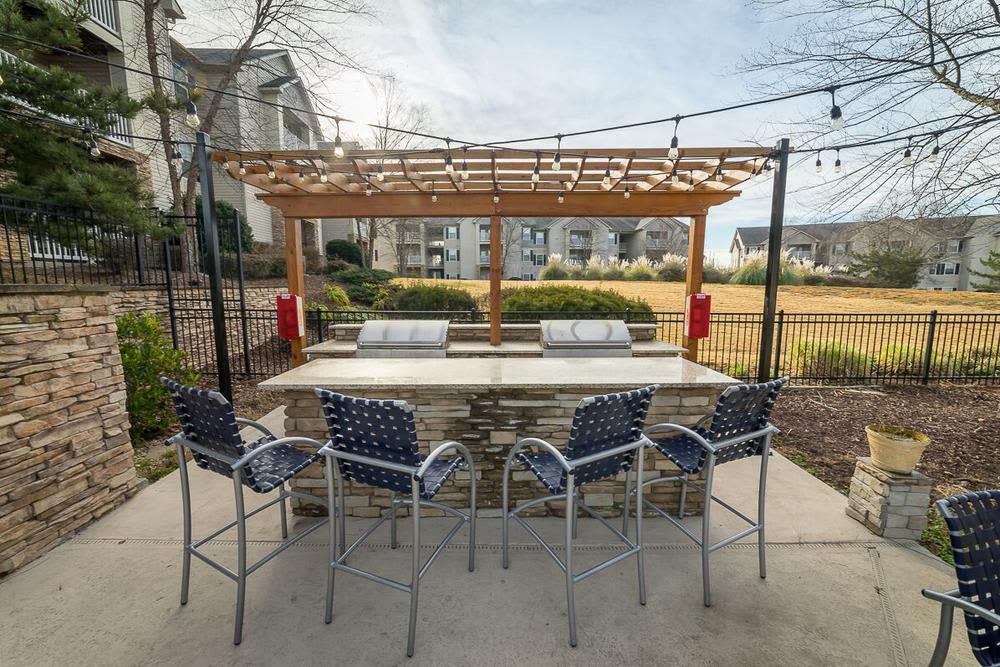 Grilling area at The Enclave at Deep River in Greensboro, NC