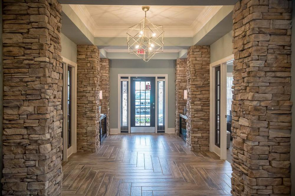 Interior entryway to clubhouse at The Enclave at Deep River in Greensboro, North Carolina