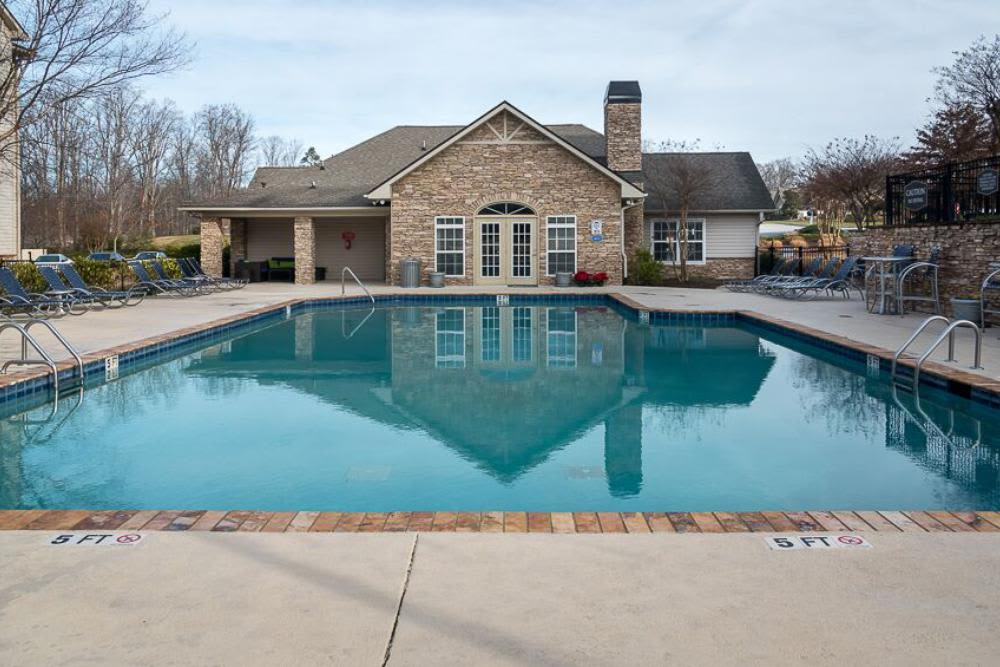 Renovated swimming pool at The Enclave at Deep River in Greensboro, North Carolina