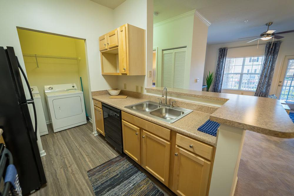 Renovated kitchen at The Enclave at Deep River in Greensboro, North Carolina