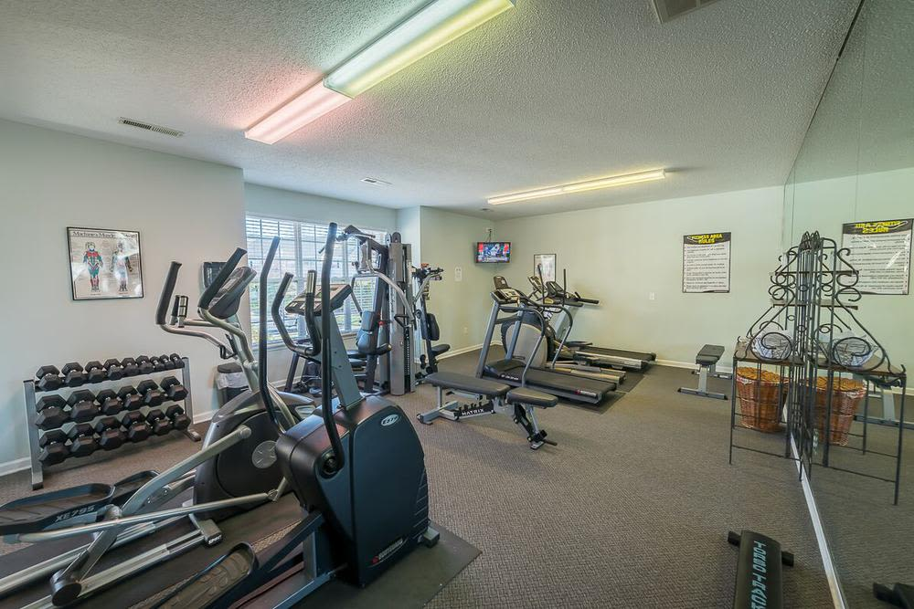 Fitness center at Highbrook in High Point, North Carolina