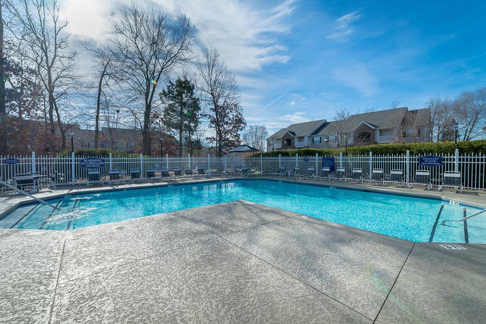 Beautiful swimming pool at Highbrook in High Point, North Carolina