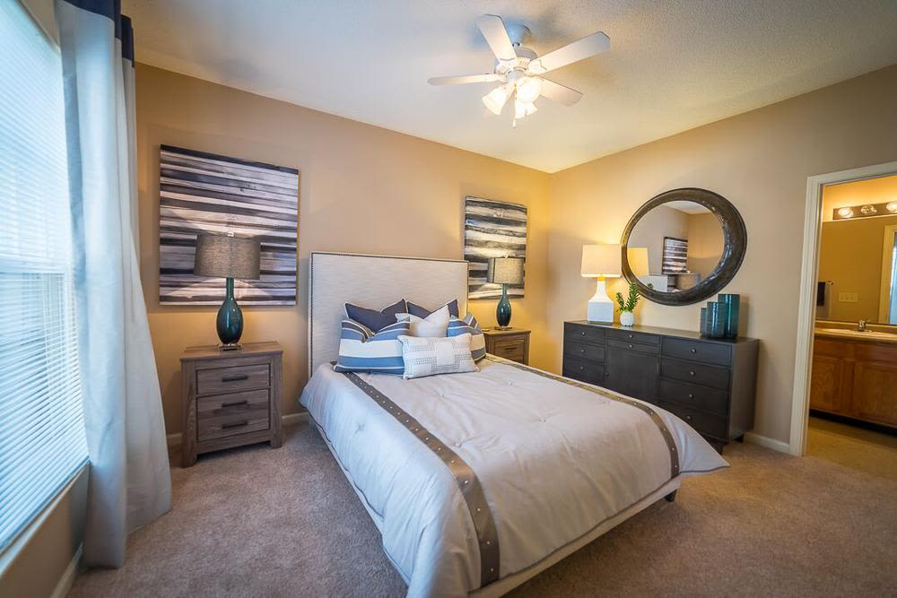 Beautiful bedroom at Polo Village in Columbia, South Carolina