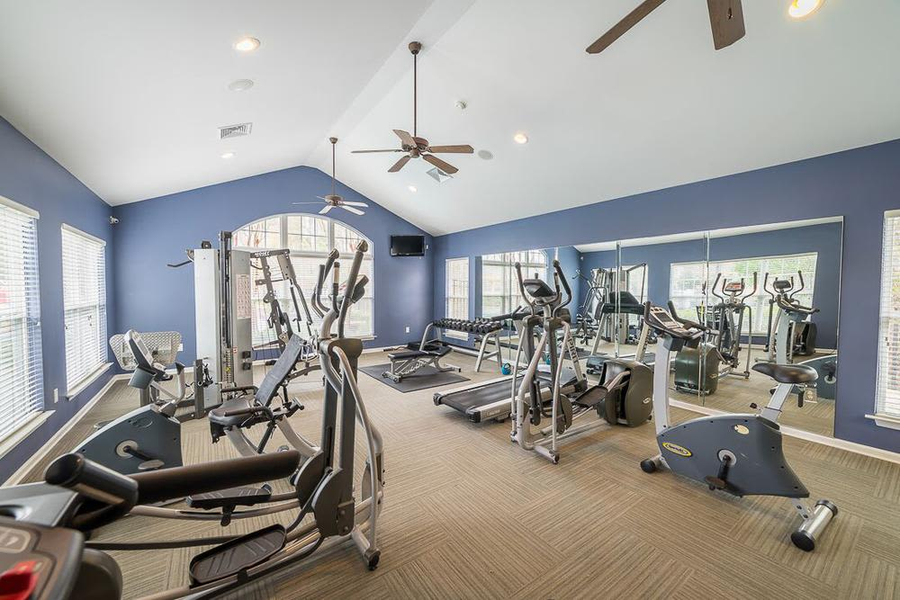 Fitness center at Polo Village in Columbia, South Carolina
