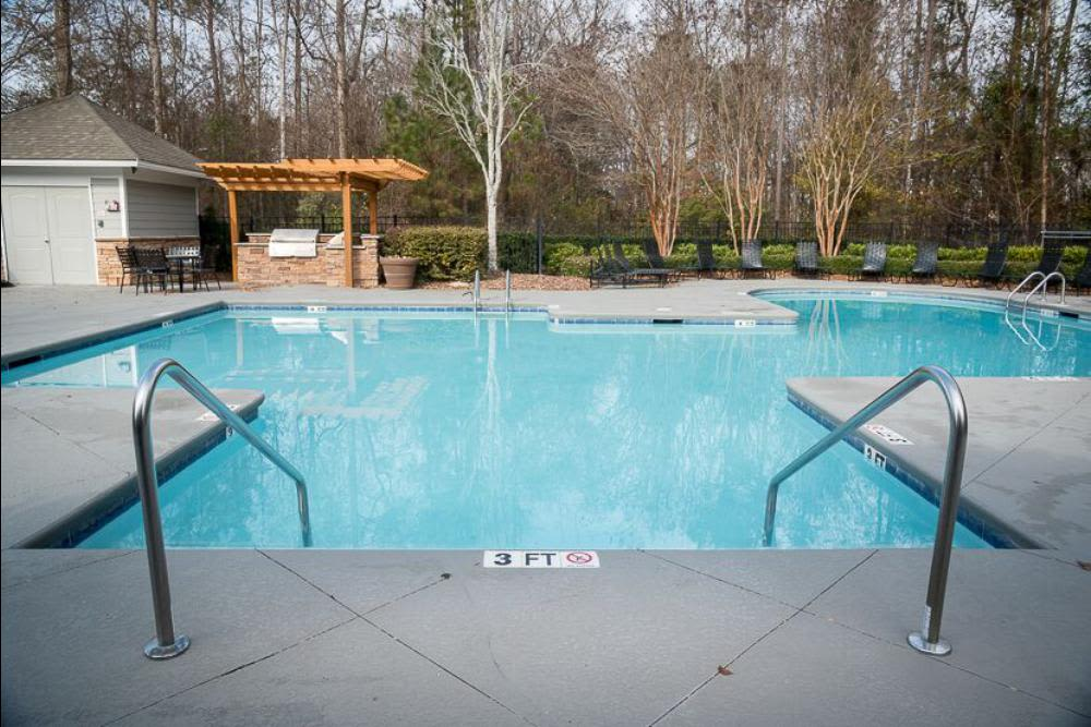 Beautiful swimming pool at Polo Village in Columbia, South Carolina