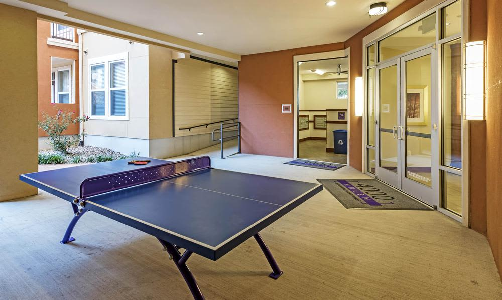 Beautiful game room at 4000 Hulen Urban Apartment Homes in Fort Worth, Texas