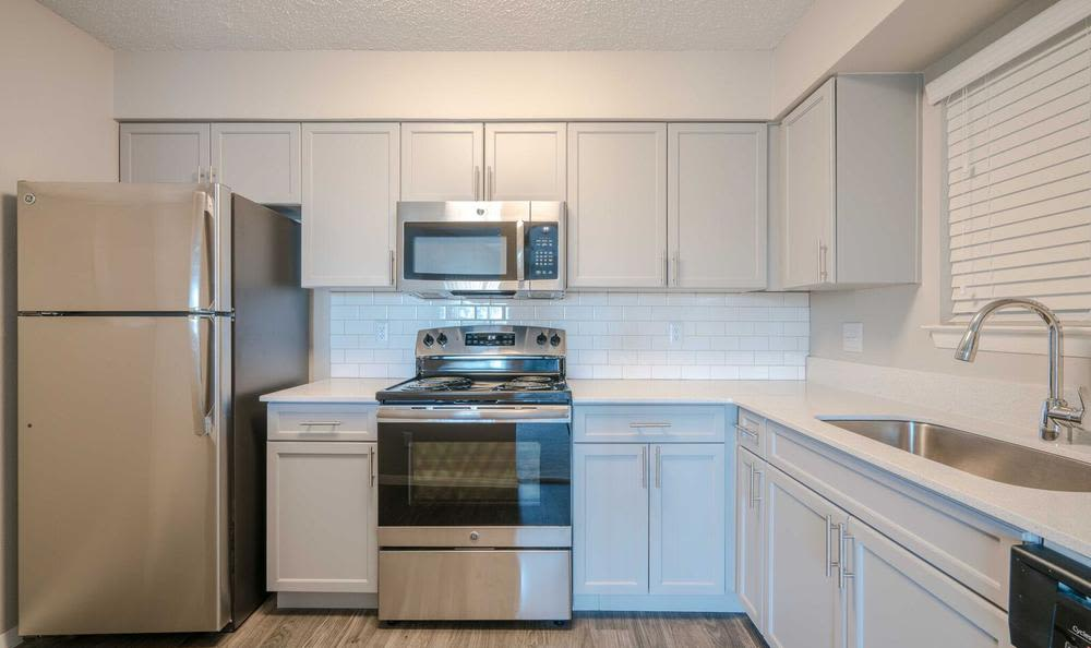 Beautiful kitchen at Northstar Apartments in Austin