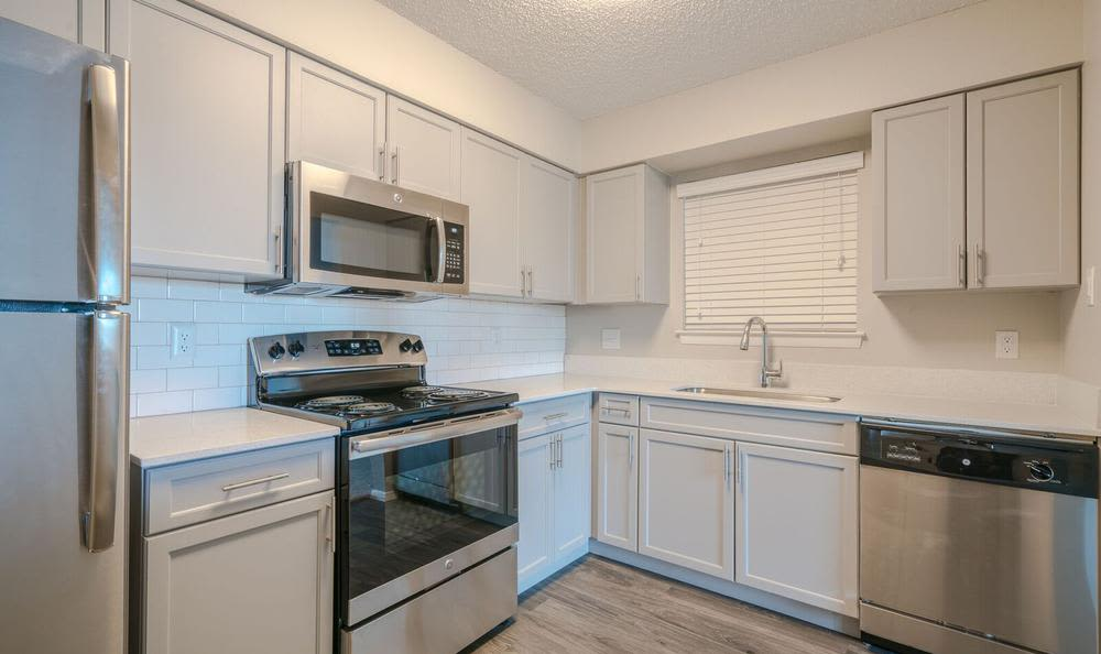 Well-decorated Kitchen  at Northstar Apartments in Austin