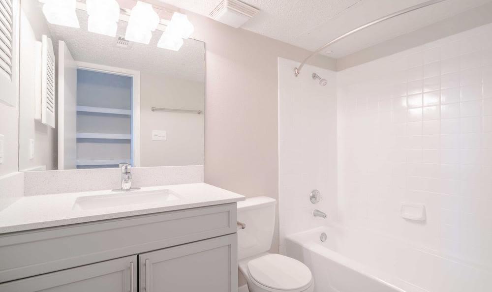 Amplious Bathroom at Northstar Apartments in Austin, Texas