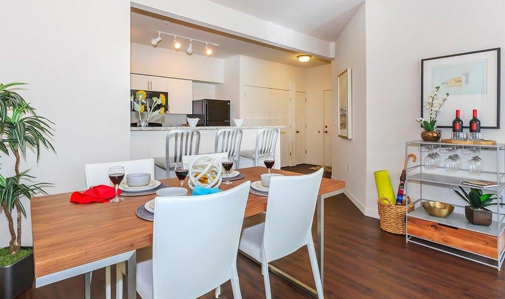 Modern kitchen at Ecco Apartments