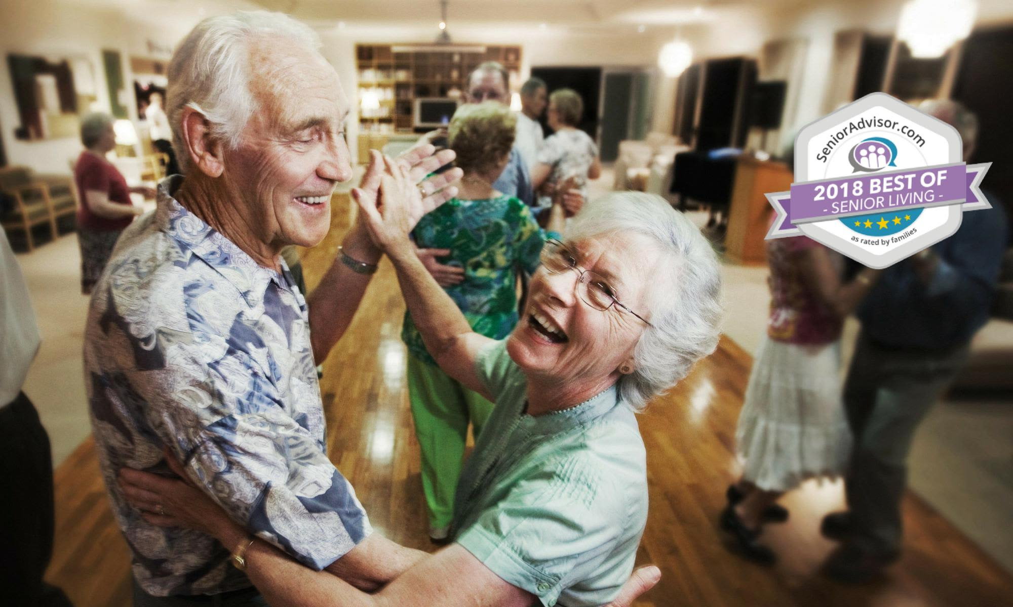 A couple dancing at NewForest Estates in San Antonio