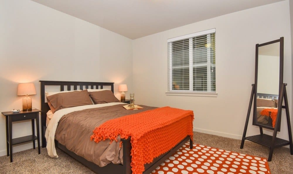 Modern bedroom at Rock Creek Commons