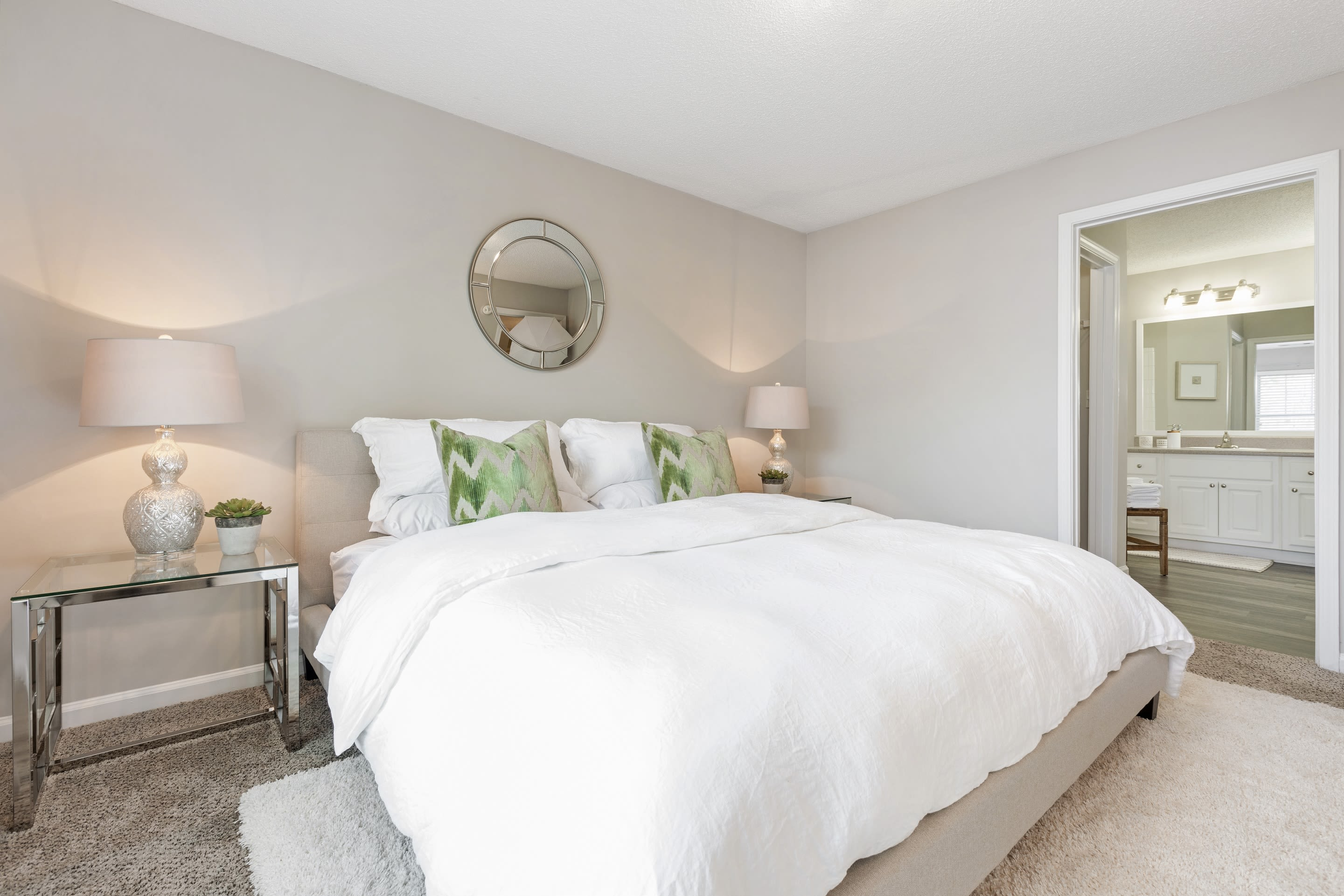 Big main bedroom at Belle Vista Apartment Homes in Lithonia, GA.