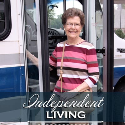 Happy Independent Living Resident at Keystone Villa at Ephrata.
