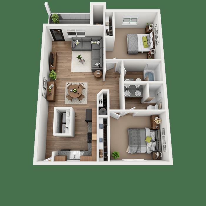 Open 2-Bedroom Apartment in Vancouver