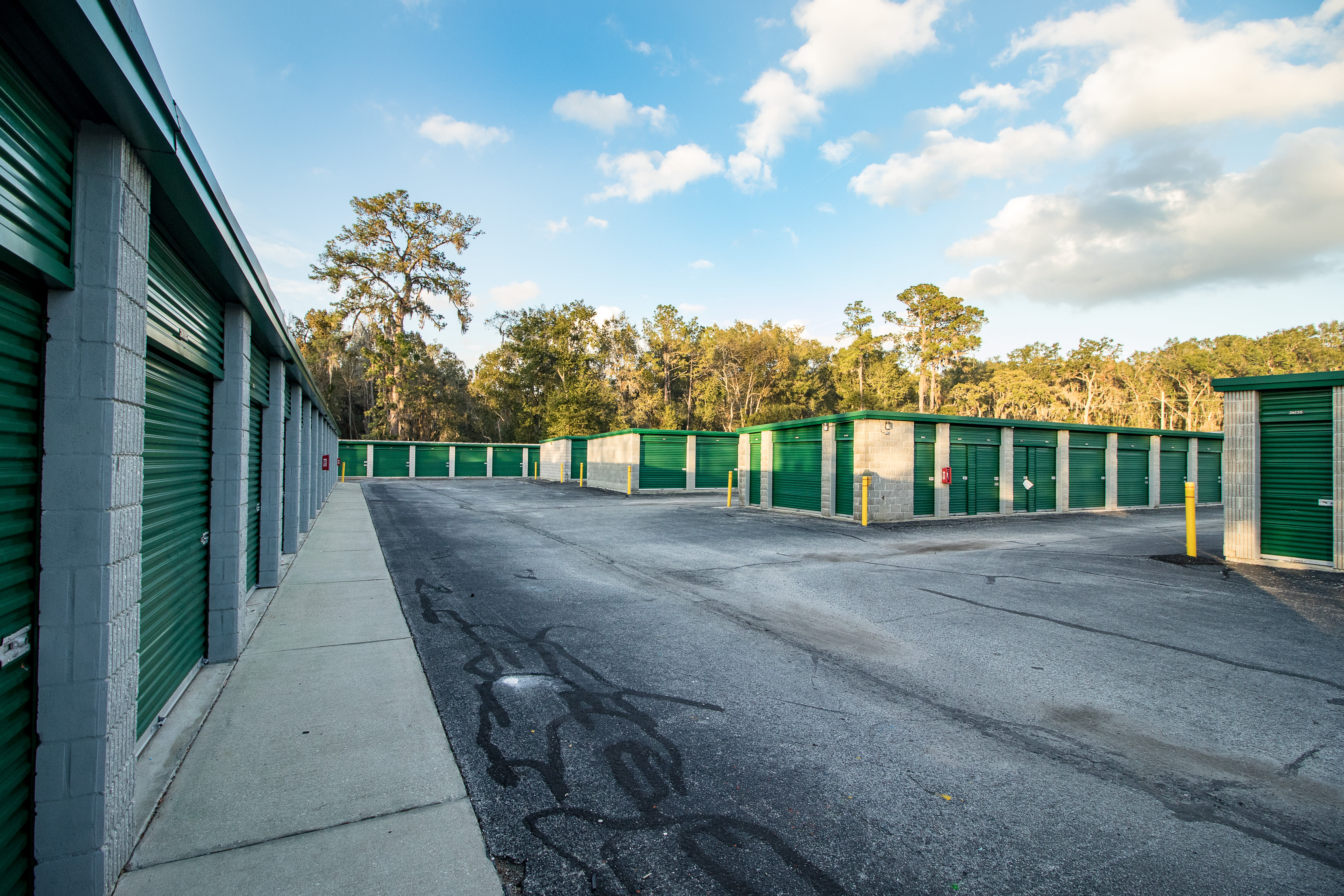 Clean exterior storage units at Neighborhood Storage in Ocala, Florida