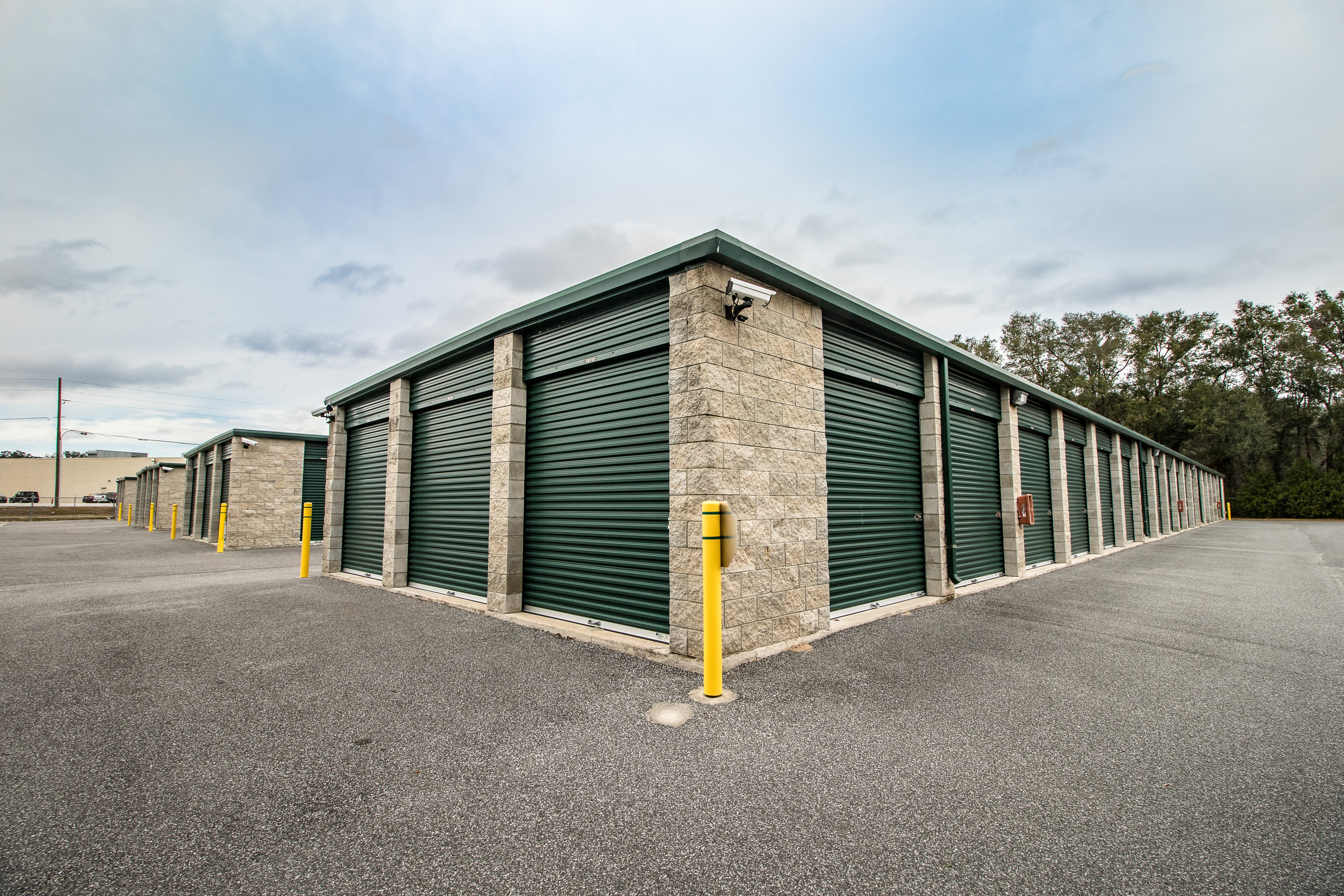 Neighborhood Storage features clean exterior storage units in Belleview, Florida