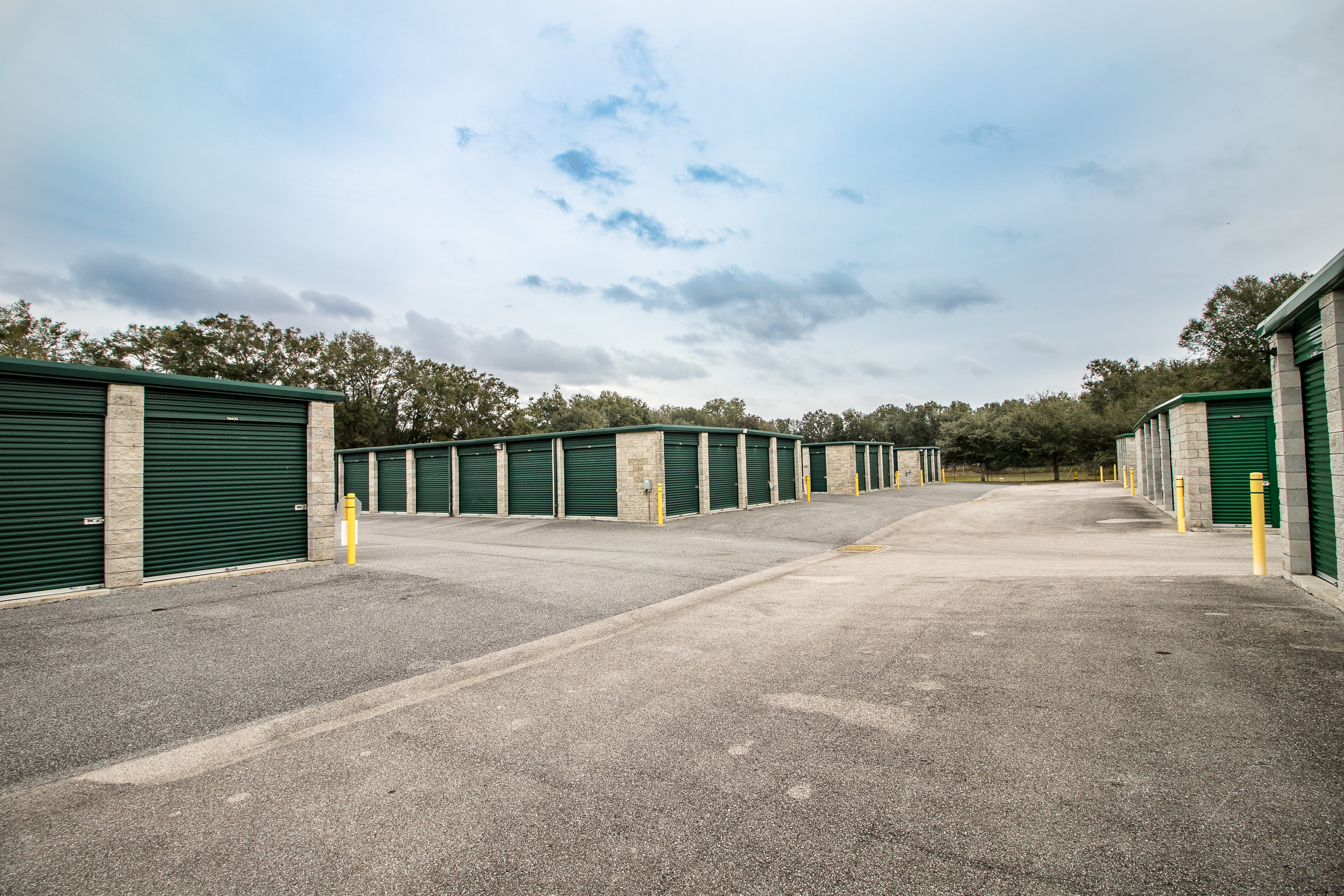 Self storage with clean exterior storage units at Neighborhood Storage