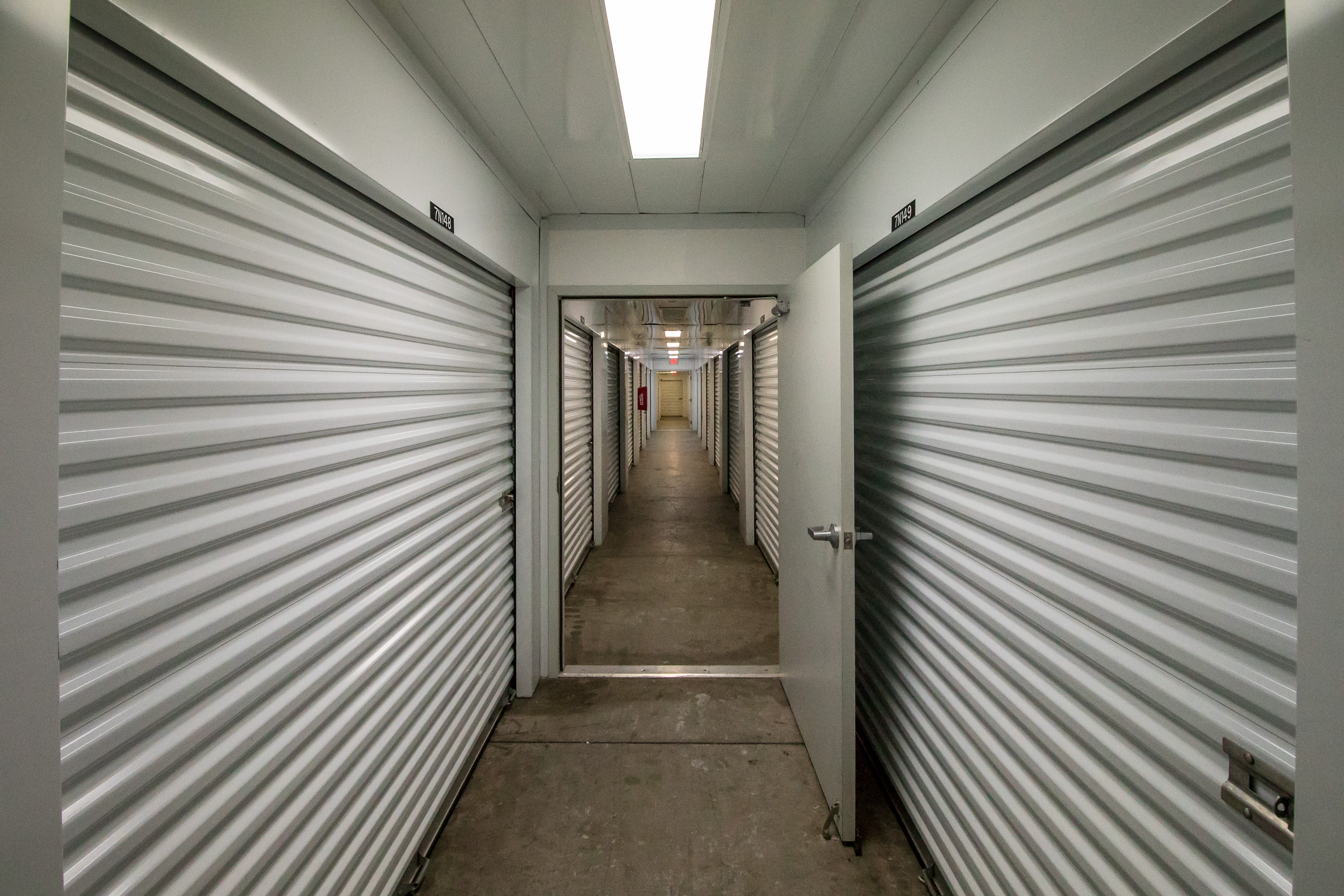 Interior storage units at Neighborhood Storage in Belleview, Florida