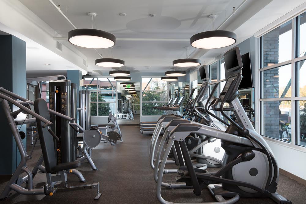 Fitness center at Lyric in Walnut Creek, California