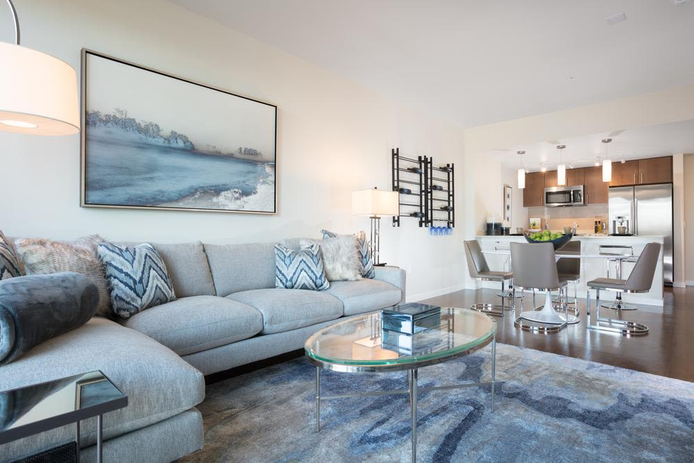 Living room at Lyric in Walnut Creek, California