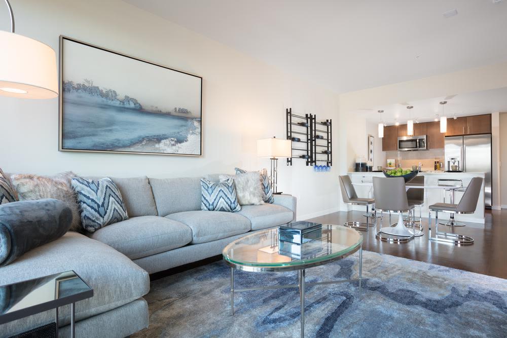 Living room at Lyric in Walnut Creek, California