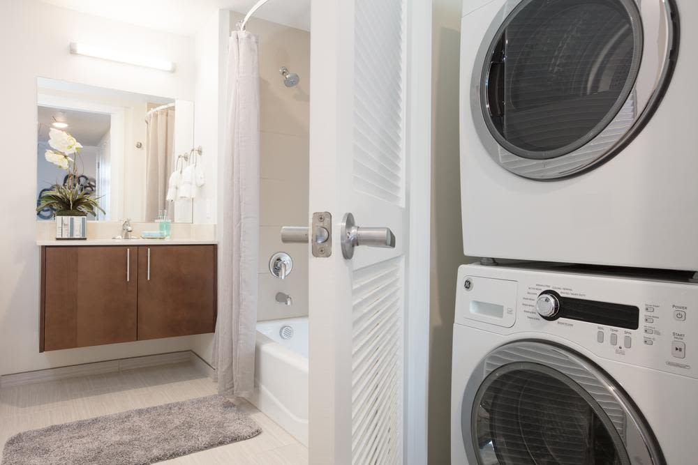 Washer/dryer at apartments in Walnut Creek, California